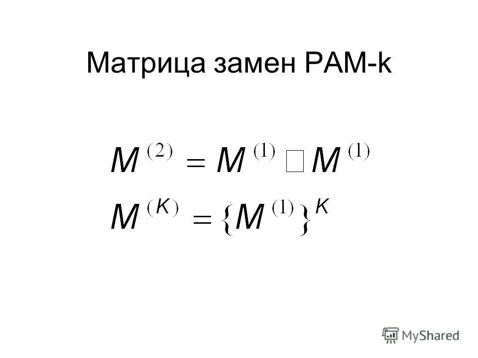 Матрица замен PAM-k