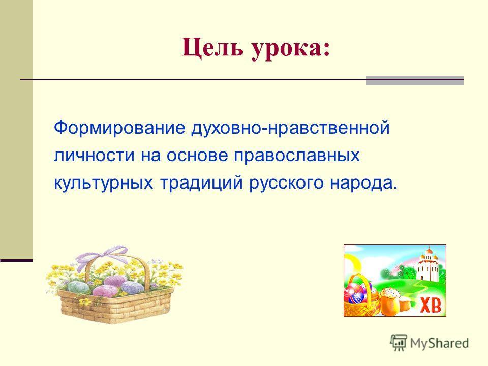 4 класс Образовательный модуль: «Основы православной культуры» Урок-презентация по теме «ПАСХА»