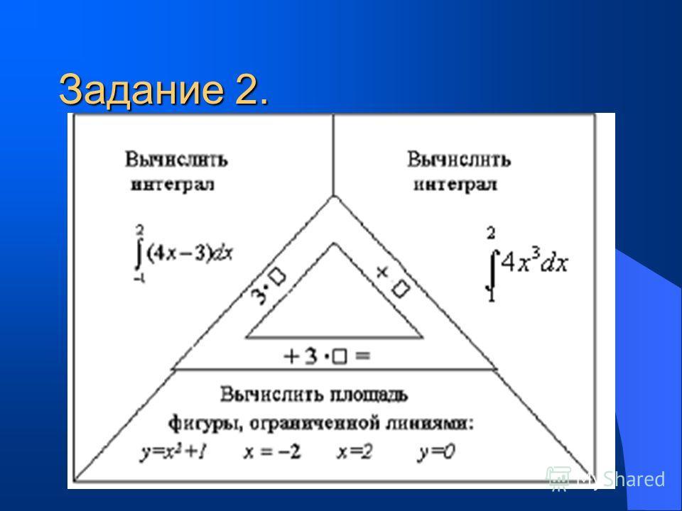 Карточка 2 Задание 1. Для функции f(х)=6x-4 найти первообразную, график которой проходит через точку М(1;3). а) F(x)=x²+x+7; б) F(x)=x²+x-3; в) F(x)=3x²+x-1; г) F(x)=3x²-4x+4.