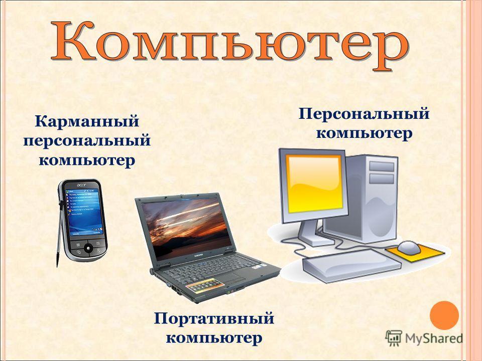 Карманный персональный компьютер Портативный компьютер Персональный компьютер