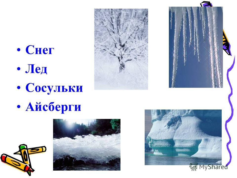 Снег Лед Сосульки Айсберги