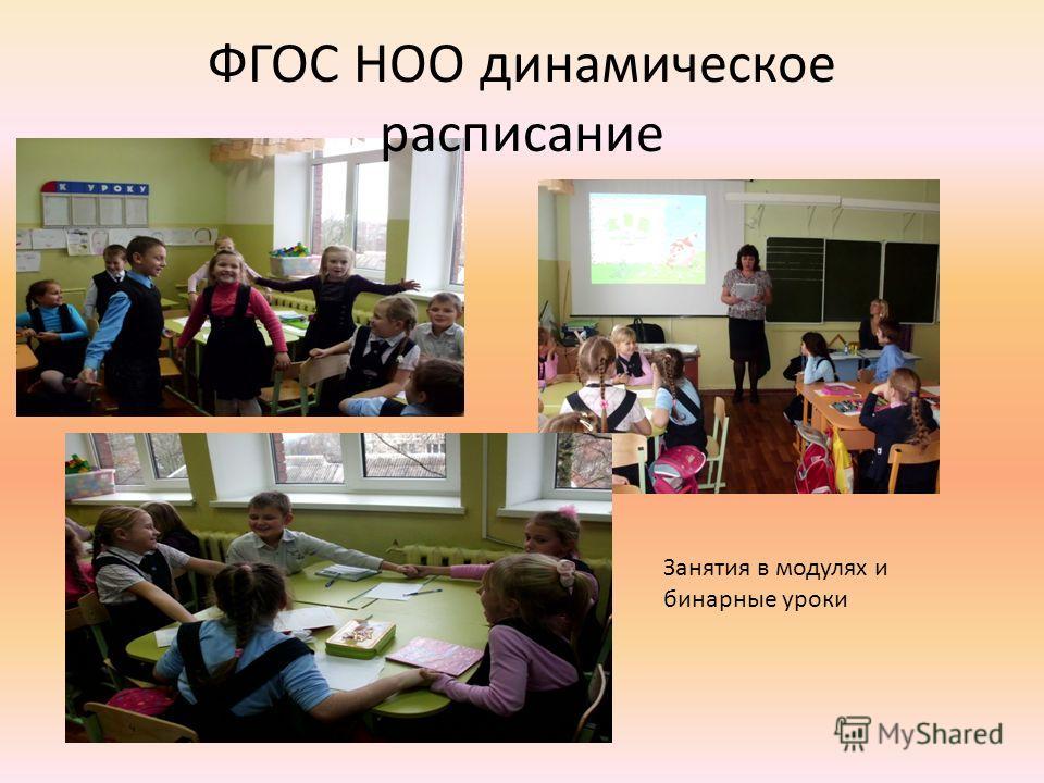 ФГОС НОО динамическое расписание Занятия в модулях и бинарные уроки