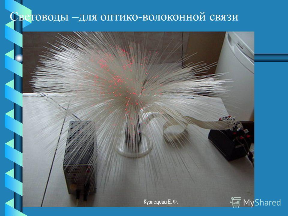 Световоды –для оптико-волоконной связи Кузнецова Е. Ф.