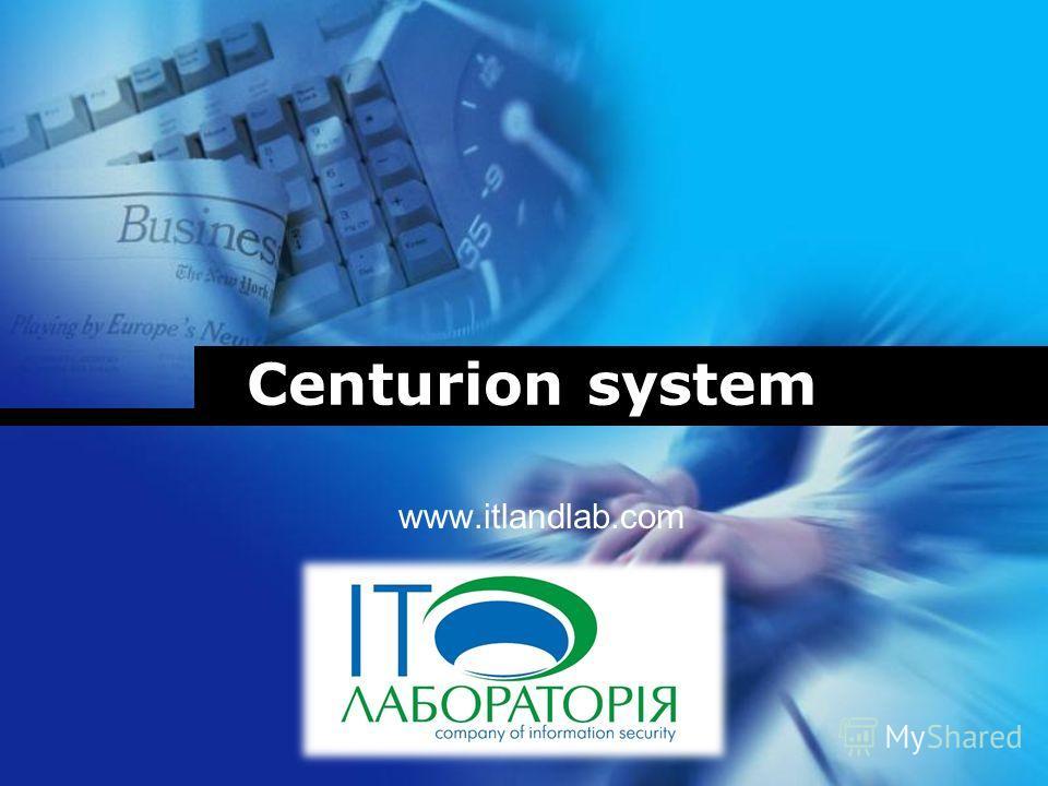 Company LOGO Centurion system www.itlandlab.com