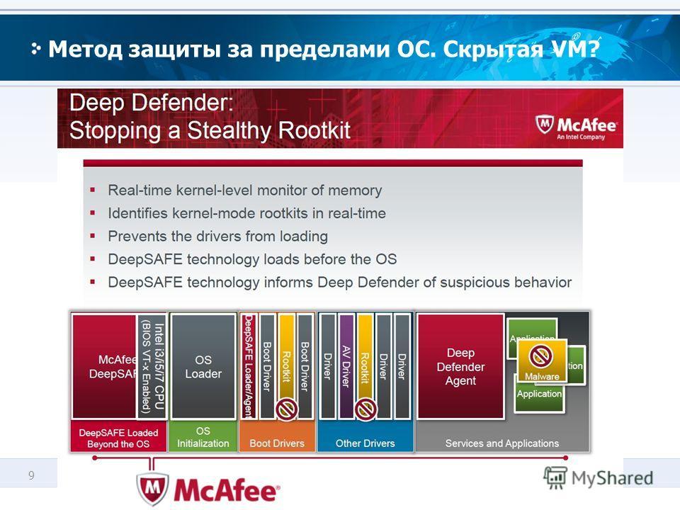 9 Метод защиты за пределами ОС. Скрытая VM?