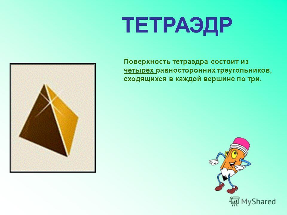 ПРАВИЛЬНЫЙ МНОГОГРАННИК- Гексаэдр Тетраэдр Октаэдр Додекаэдр Икосаэдр