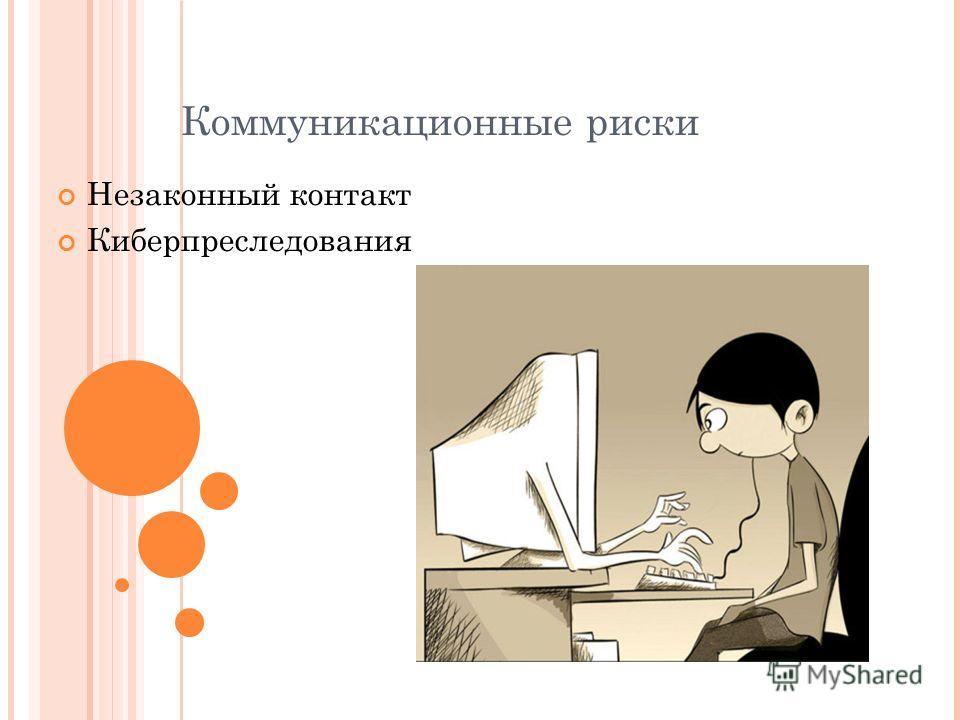 Коммуникационные риски Незаконный контакт Киберпреследования