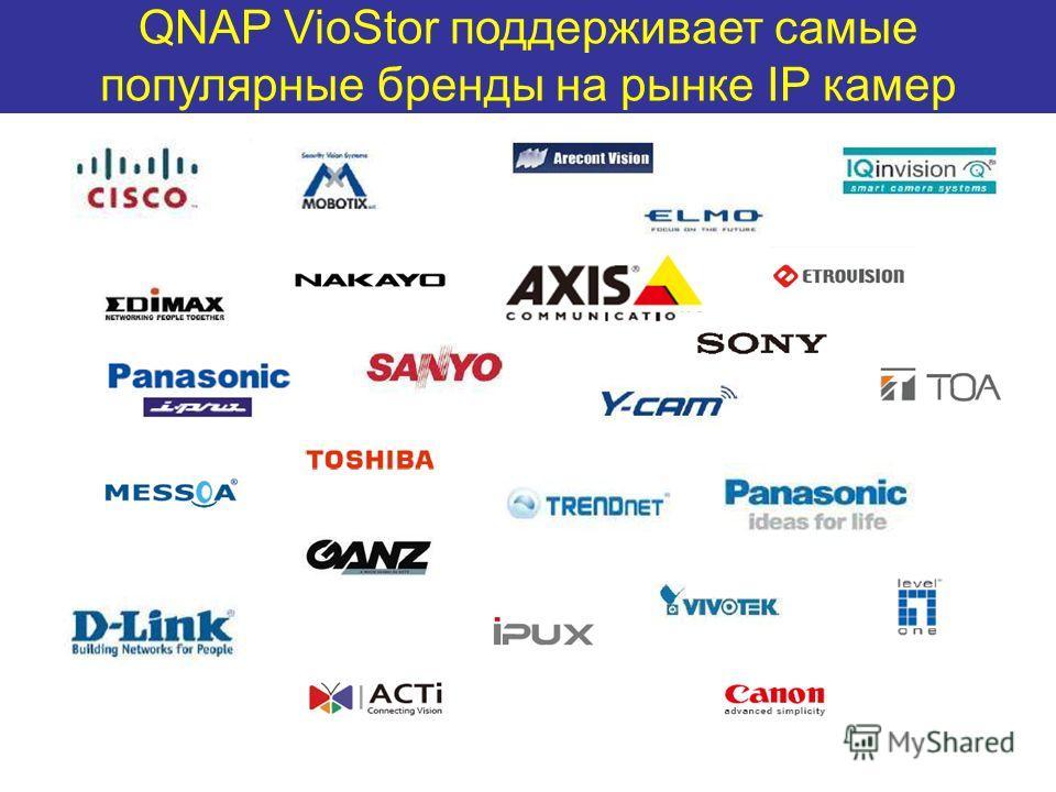 QNAP VioStor поддерживает самые популярные бренды на рынке IP камер