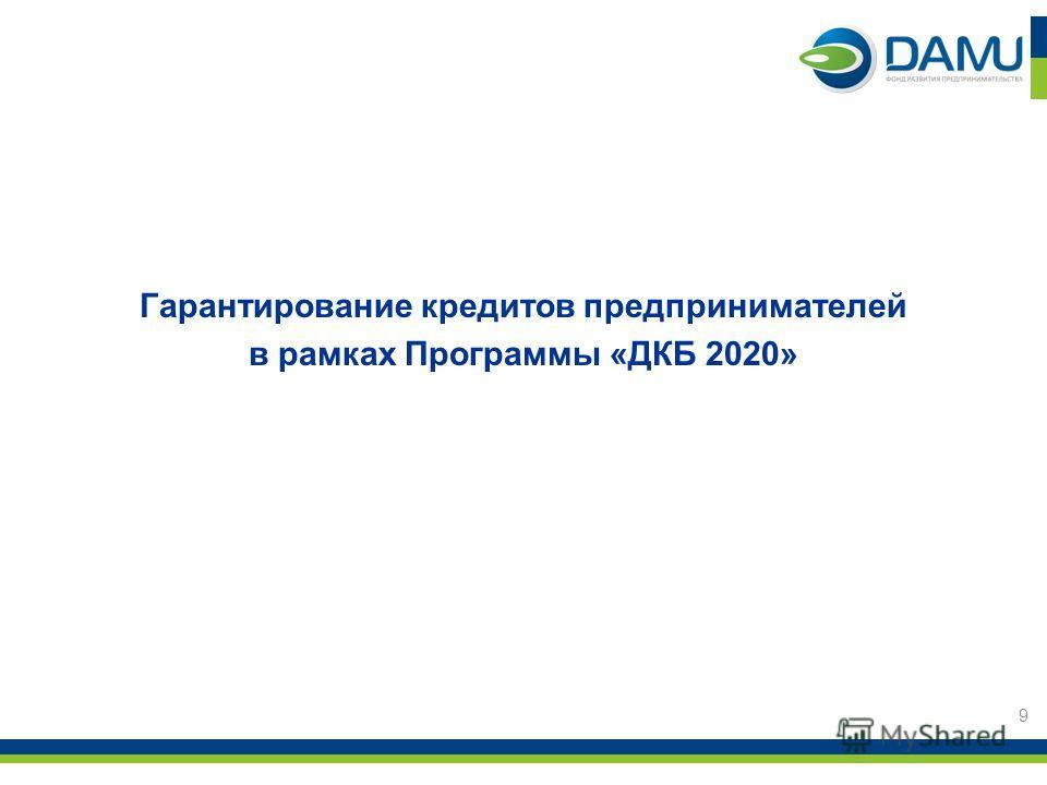 Гарантирование кредитов предпринимателей в рамках Программы «ДКБ 2020» 9