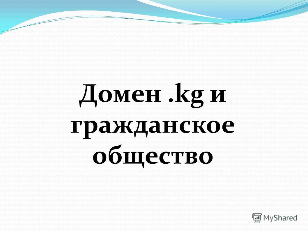 Домен.kg и гражданское общество
