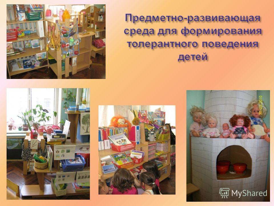 Предметно - развивающая среда для формирования толерантного поведения детей