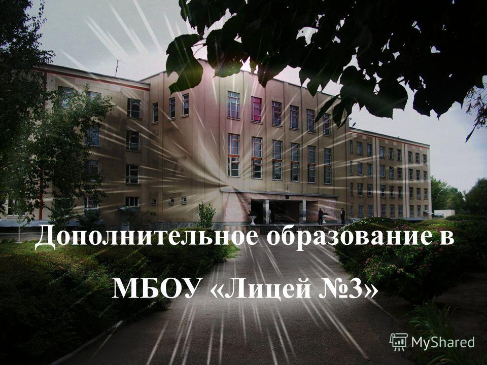 Дополнительное образование в МБОУ «Лицей 3»