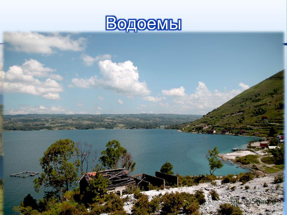 Озеро Тоба озеро на севере центральной части индонезийского острова Суматра, находящееся в вулканической кальдере, образованной одноимённым вулканом. Озеро, расположенное на высоте 900 метров над уровнем моря, достигает 100 км в длину и 30 км в ширин