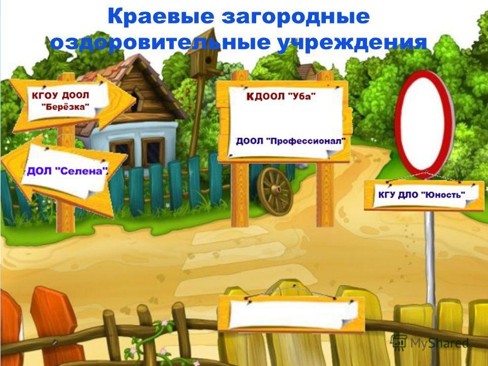 Краевые загородные оздоровительные учреждения