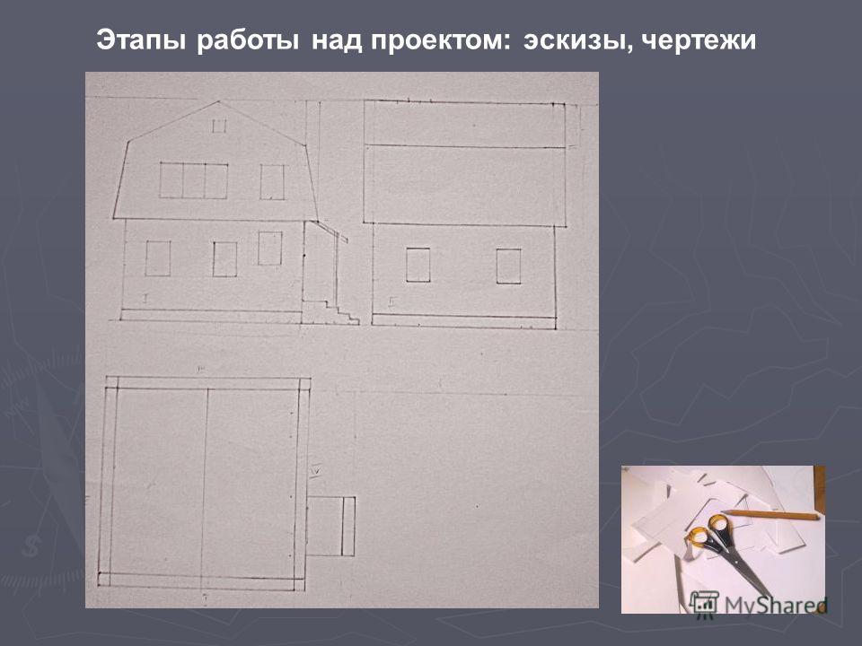 Этапы работы над проектом: эскизы, чертежи