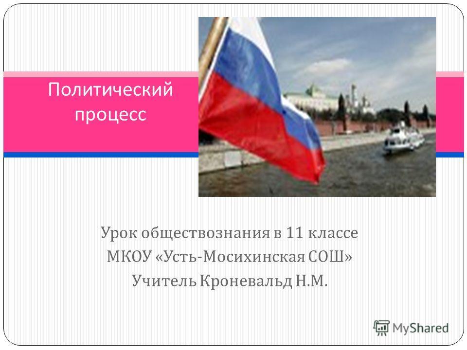 Урок обществознания в 11 классе МКОУ « Усть - Мосихинская СОШ » Учитель Кроневальд Н. М. Политический процесс