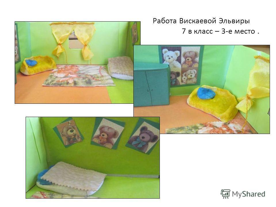 Работа Вискаевой Эльвиры 7 в класс – 3-е место.