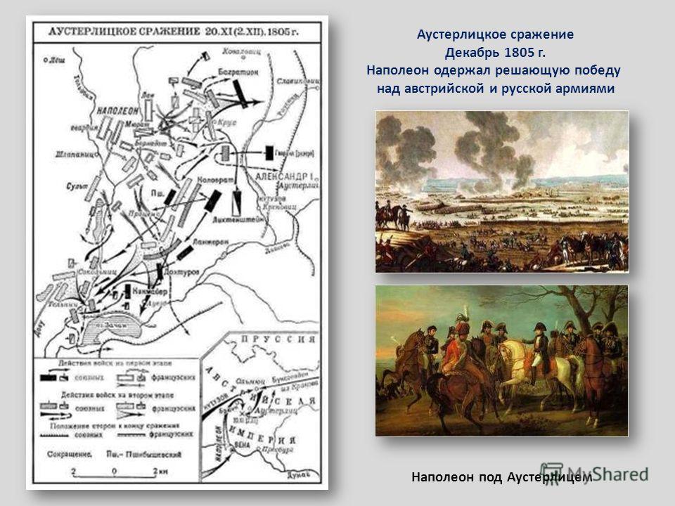 Аустерлицкое сражение Декабрь 1805 г. Наполеон одержал решающую победу над австрийской и русской армиями Наполеон под Аустерлицем