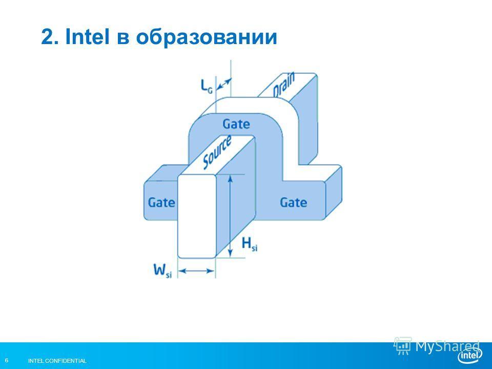 INTEL CONFIDENTIAL 6 2. Intel в образовании