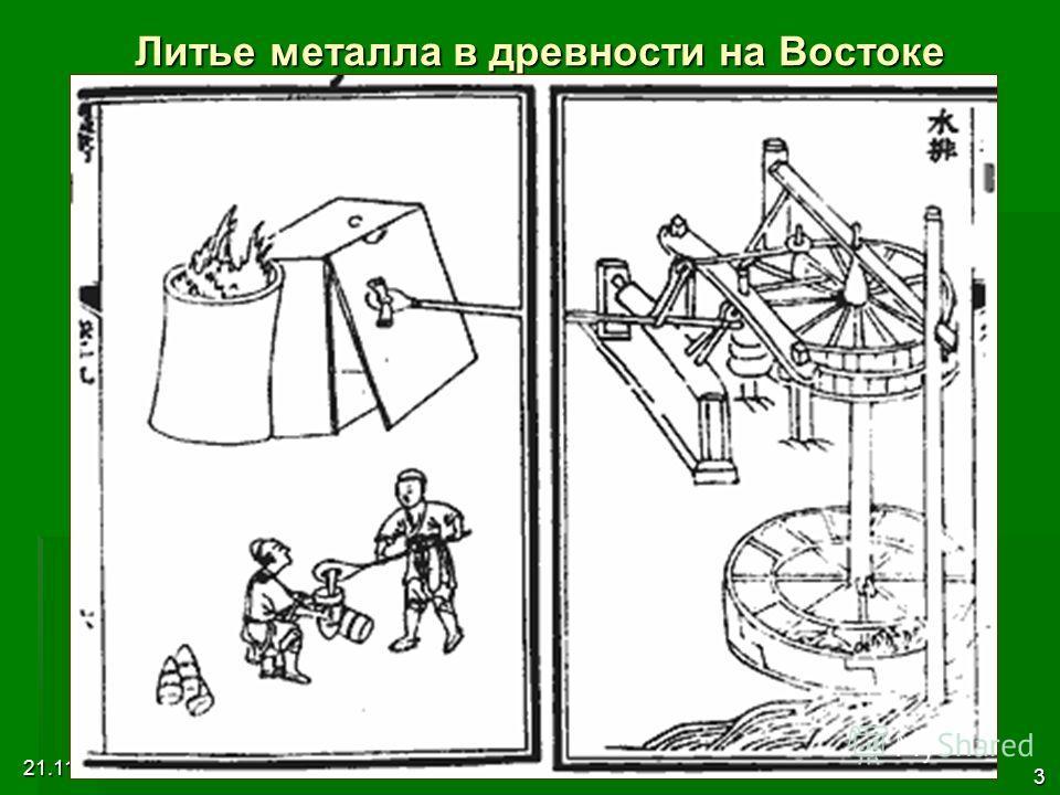 21.11.2013 3:56 3 Литье металла в древности на Востоке