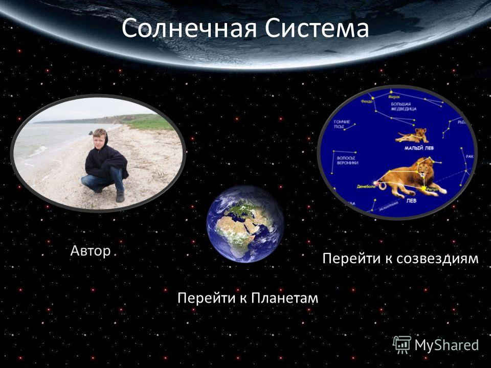 Солнечная Система Перейти к Планетам Автор Перейти к созвездиям