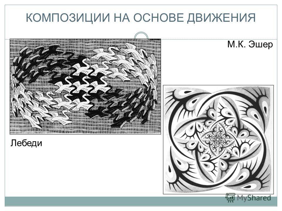 КОМПОЗИЦИИ НА ОСНОВЕ ДВИЖЕНИЯ М.К. Эшер Лебеди