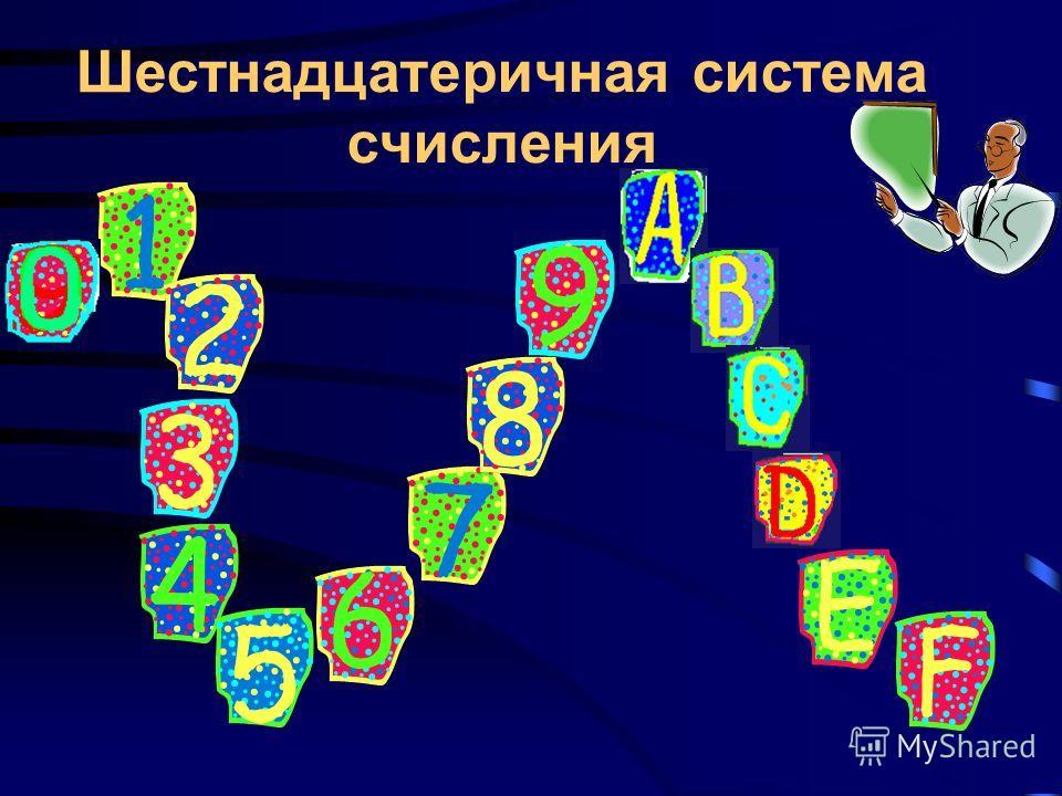 Пример перевода из восьмеричной системы счисления в десятичную 2 1 0 -1 421.5 8 = 48 2 +28 1 +18 0 +58 -1 = = 256 + 16 + 1 + 5/8 = = 273,625 10