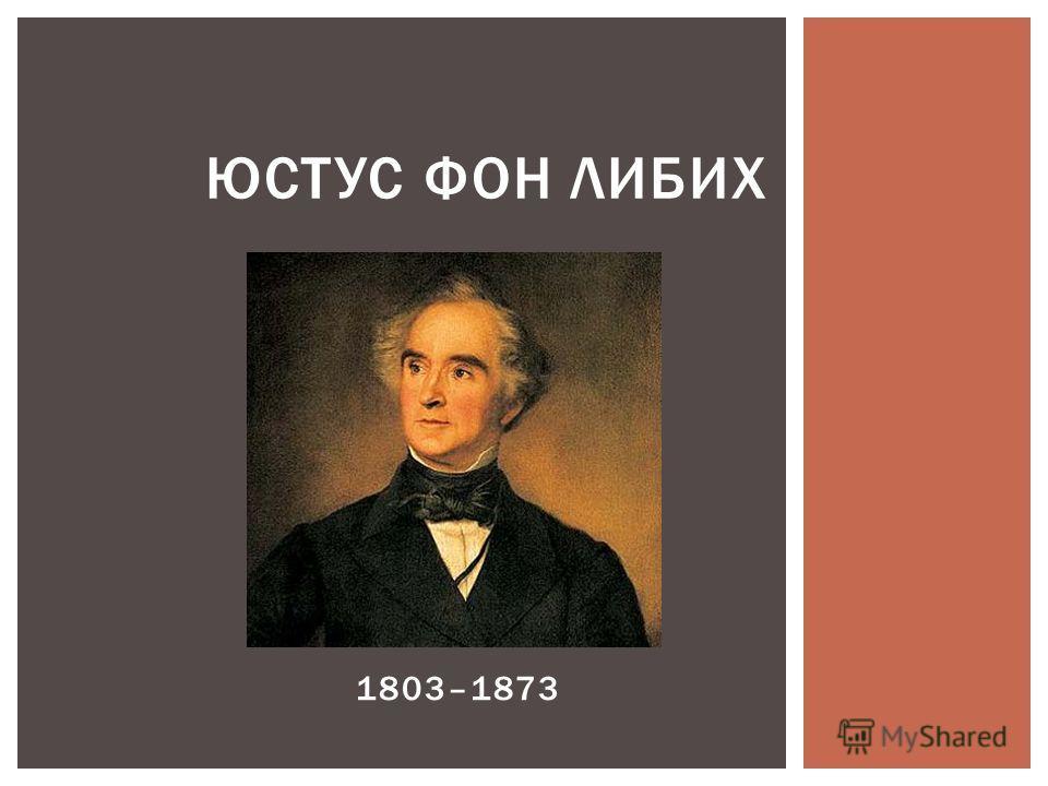 ЮСТУС ФОН ЛИБИХ ( 1803–1873