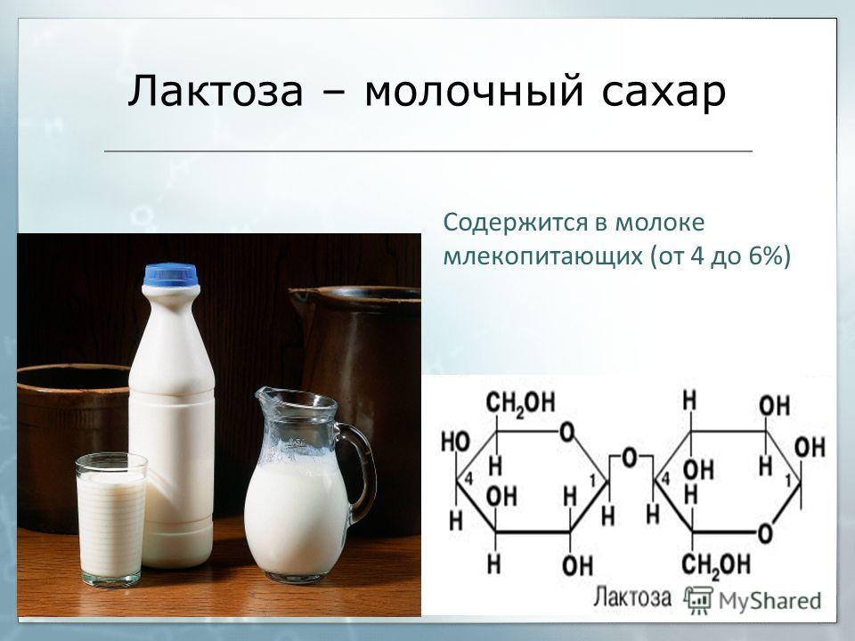 Как называется молочный сахар? вопрос 4