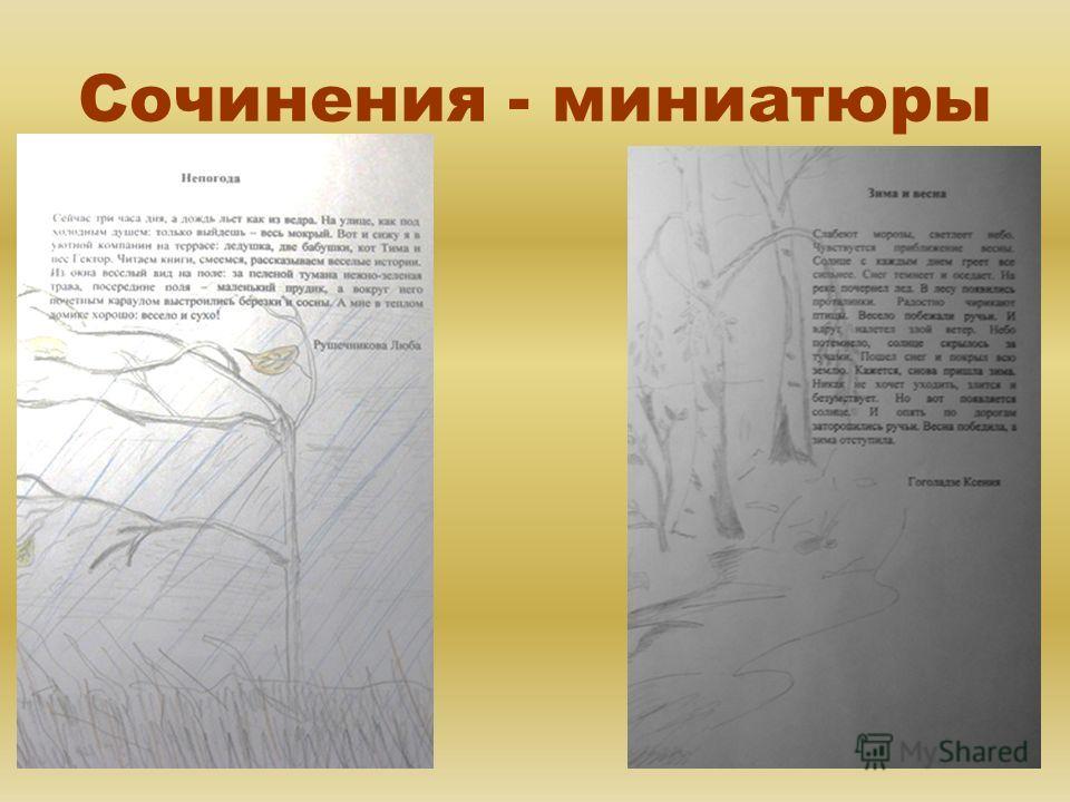 Сочинения - миниатюры