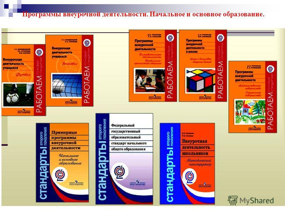 Программы внеурочной деятельности. Начальное и основное образование.