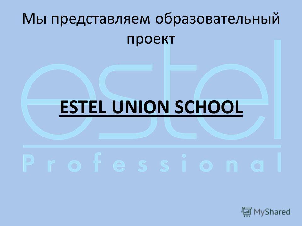 Мы представляем образовательный проект ESTEL UNION SCHOOL