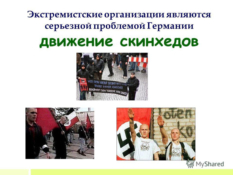 Экстремистские организации являются серьезной проблемой Германии движение скинхедов