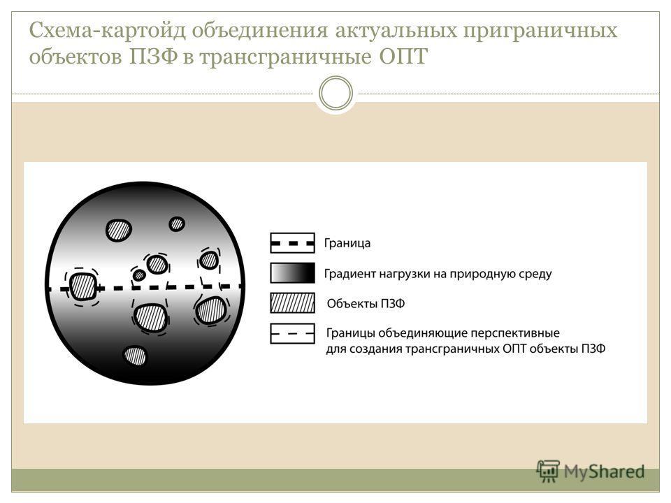 Схема-картойд объединения актуальных приграничных объектов ПЗФ в трансграничные ОПТ