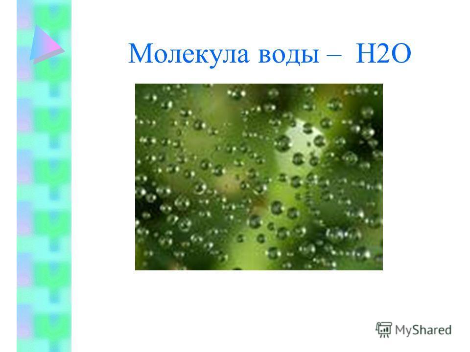 Молекула воды – Н2О