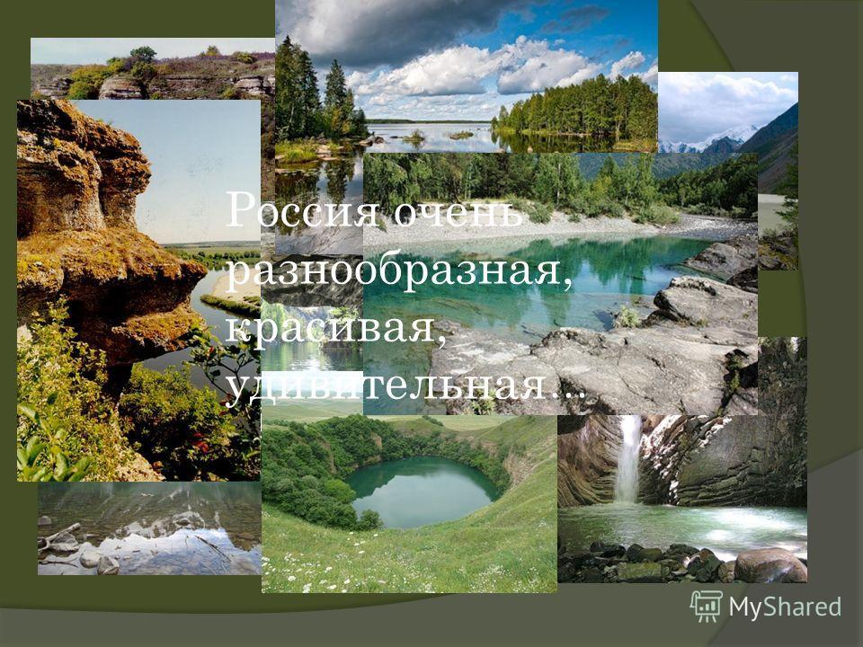 Россия очень разнообразная, красивая, удивительная...