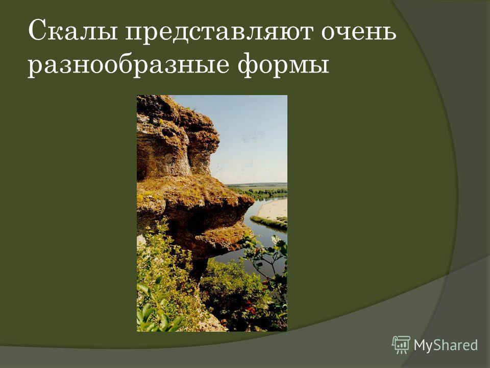Скалы представляют очень разнообразные формы