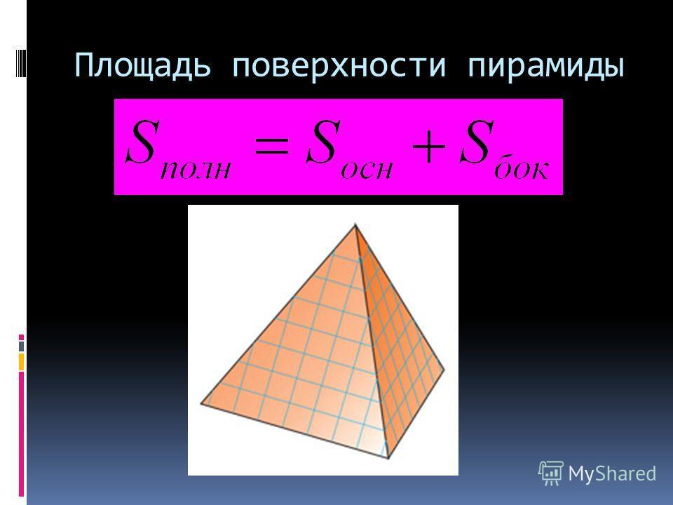 Площадь поверхности пирамиды