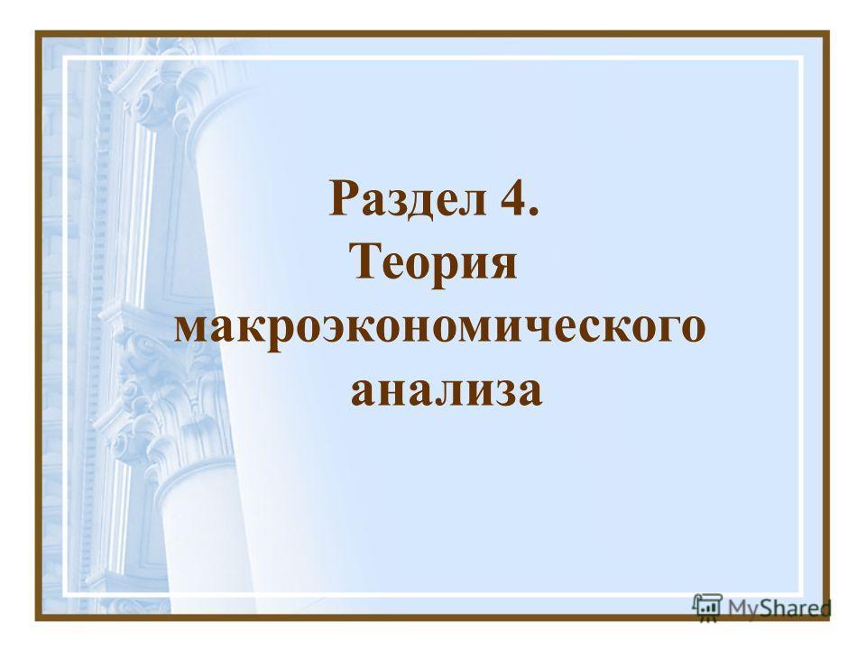 Раздел 4. Теория макроэкономического анализа