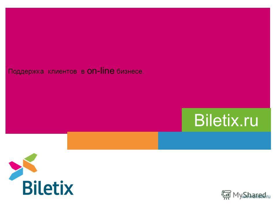 Поддержка клиентов в on-line бизнесе. www.biletix.ru Biletix.ru