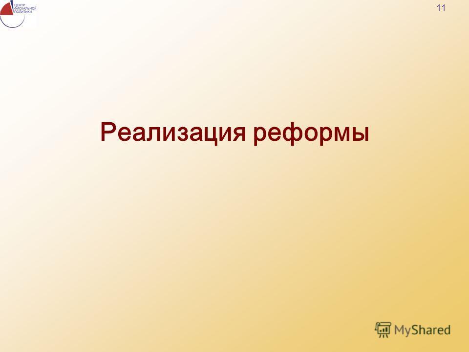 11 Реализация реформы