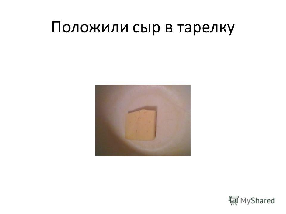 Положили сыр в тарелку