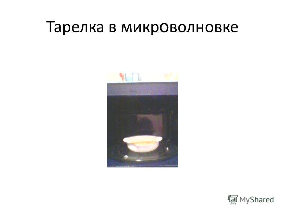 Тарелка в микр о волновке