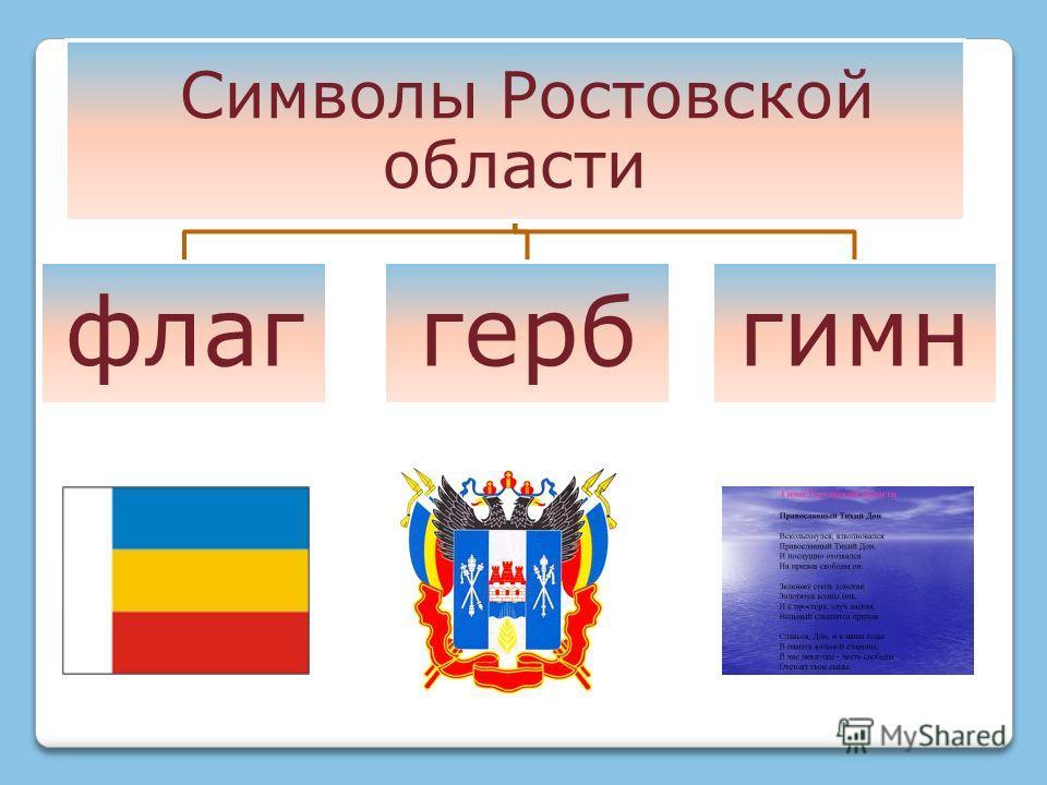 Символы Ростовской области флаггербгимн