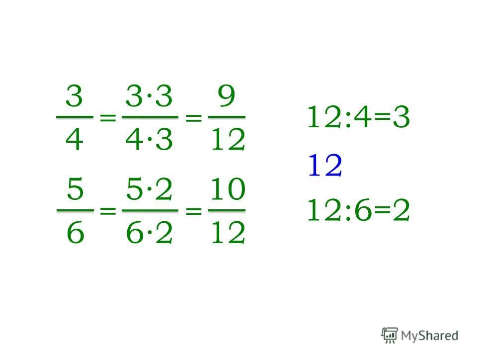 3 4 5 6 12 12:4=3 = 33 43 = 9 12 12:6=2 = 52 62 = 10 12