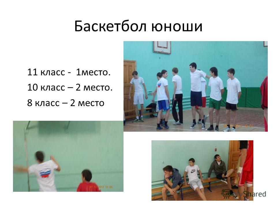 Баскетбол юноши 11 класс - 1место. 10 класс – 2 место. 8 класс – 2 место