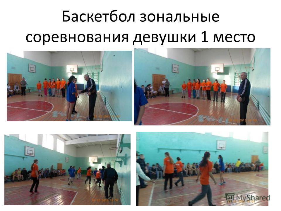 Баскетбол зональные соревнования девушки 1 место
