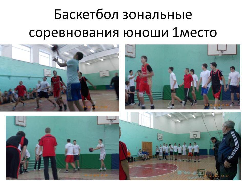Баскетбол зональные соревнования юноши 1место