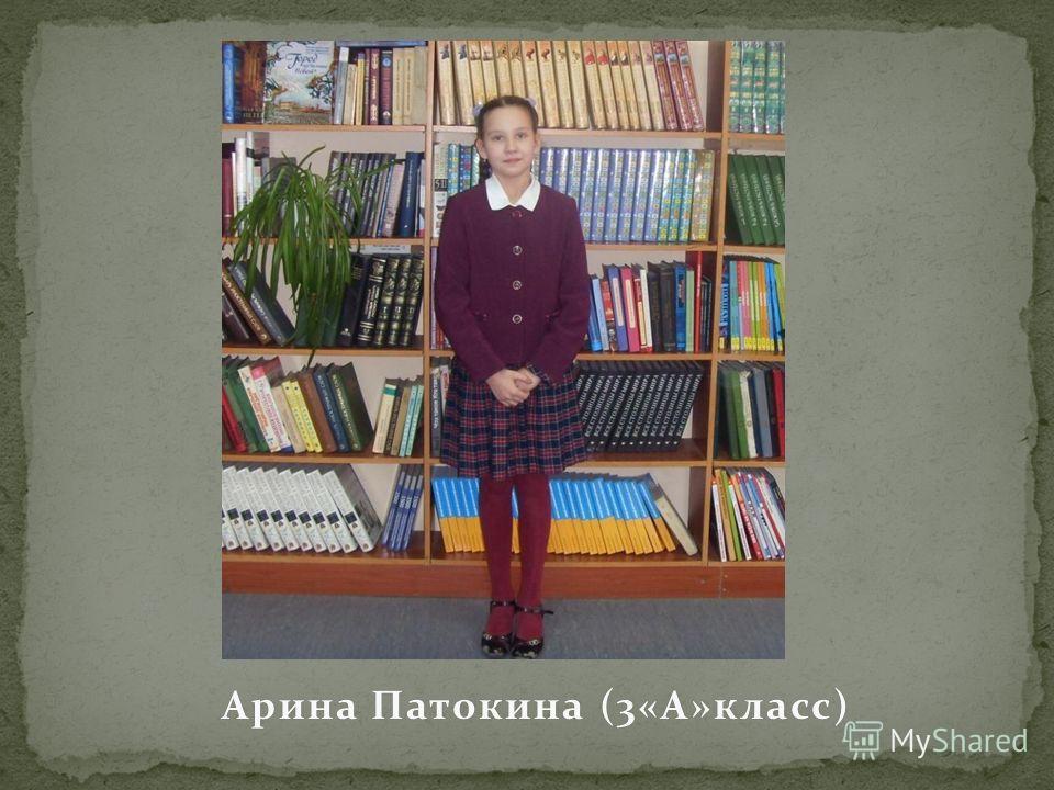Арина Патокина (3«А»класс)Арина Патокина (3«А»класс)
