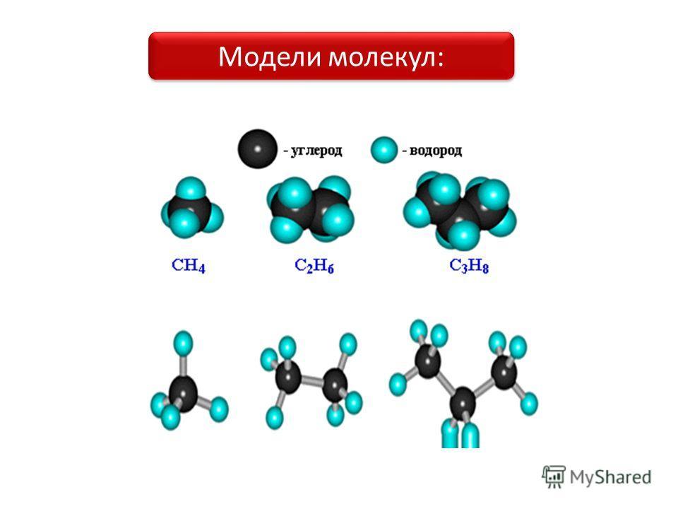 Модели молекул: